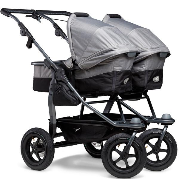 TFK Duo Kombi Kinderwagen mit Luftrad-Set- Grau