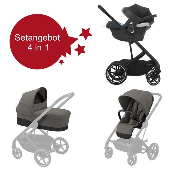 Cybex Balios S Lux Kinderwagen Setangebot 4in1- Soho Grey