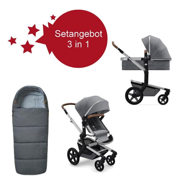 Joolz Day + Setangebot mit Fußsack Gorgeous Grey