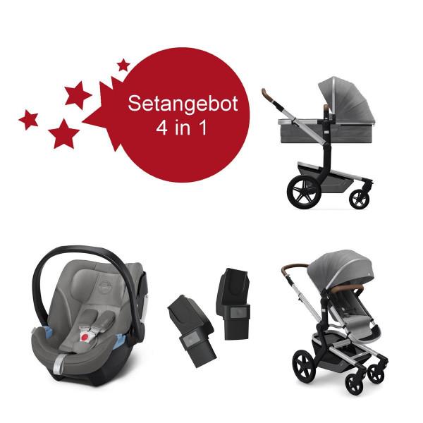 Joolz Day+ Kinderwagen Radiant Grey Setangebot mit Aton 5