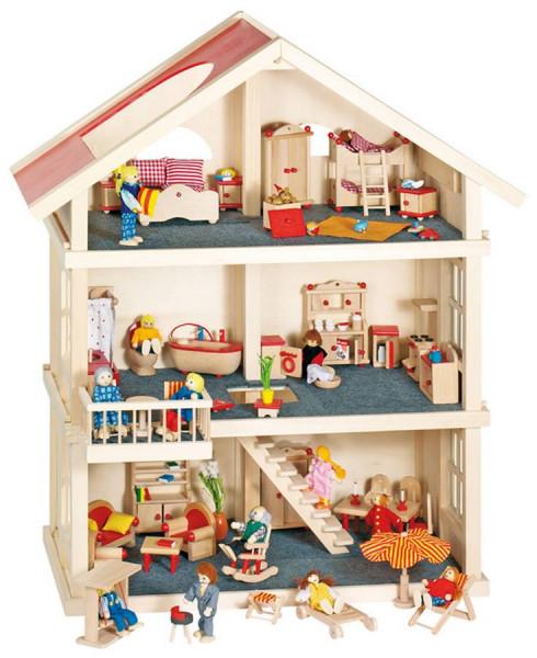 GoKi Puppenhaus Puppen-Wohnhaus Holzpuppenhaus