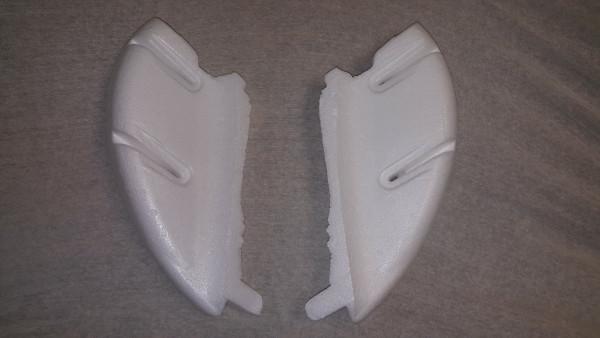 Besafe Ersatzteil Styropor Seitenteile (Schulter re. + li.) für Combi/Comfort/Kid/Plus