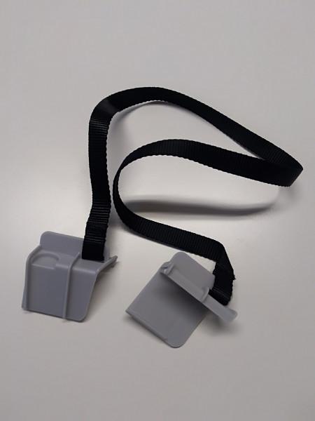 BeSafe Ersatzteil 1 paar graue ISOfix Einführhilfen mit Band