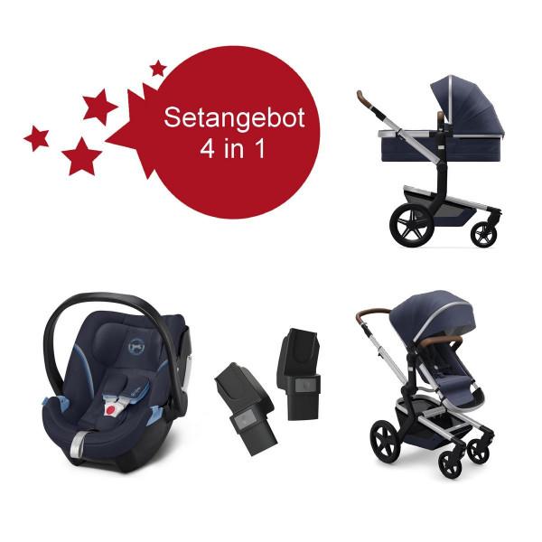 Joolz Day+ Kinderwagen Classic Blue Setangebot mit Aton 5