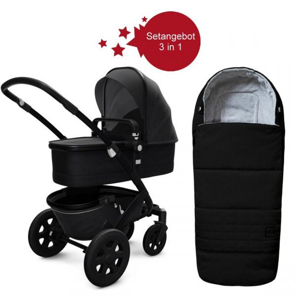 Joolz Geo 2 Setangebot Kinderwagen + Fußsack Brillant Black