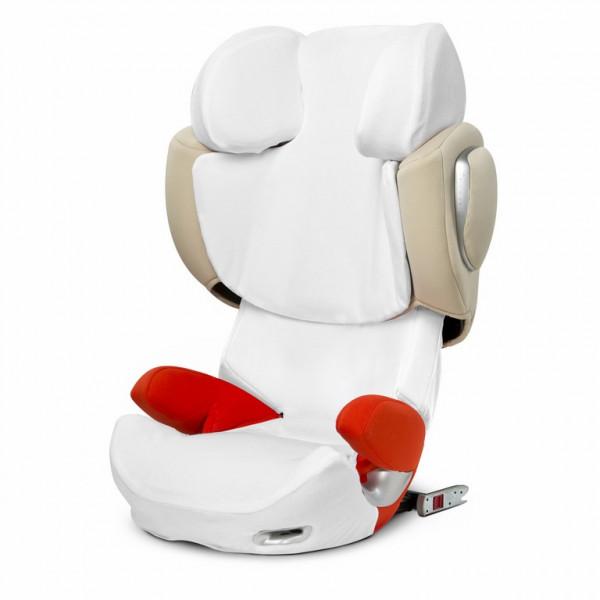 Der Cybex Sommerbezug verhindert Hitzestau auf dem Kindersitz und ist darüber hinaus hautverträglich. Genau das Richtige für den Sommer.