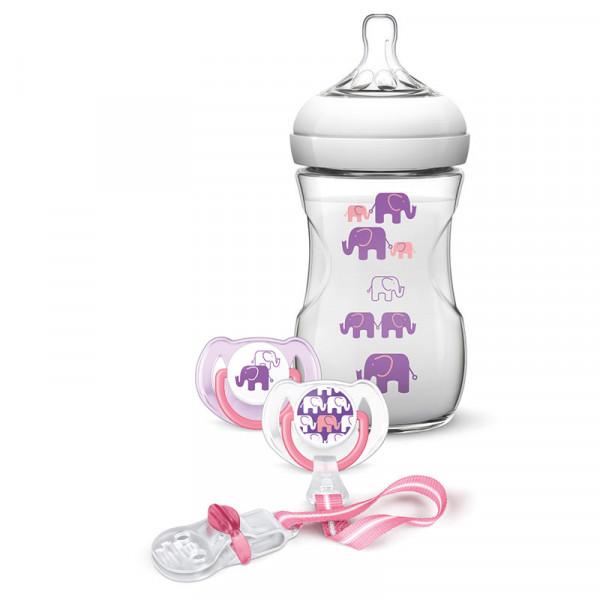Philips Avent Geschenk Set Elefanten f. Mädchen