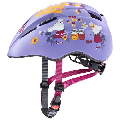 Uvex Kinderhelm Kid 2 cc- Lilac mouse mat