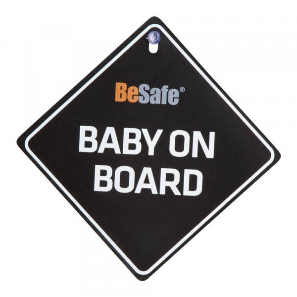 "BeSafe Schild ""Baby on Board"" - Schwarz"