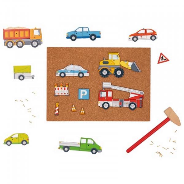 Goki Hammerspiel Fahrzeuge