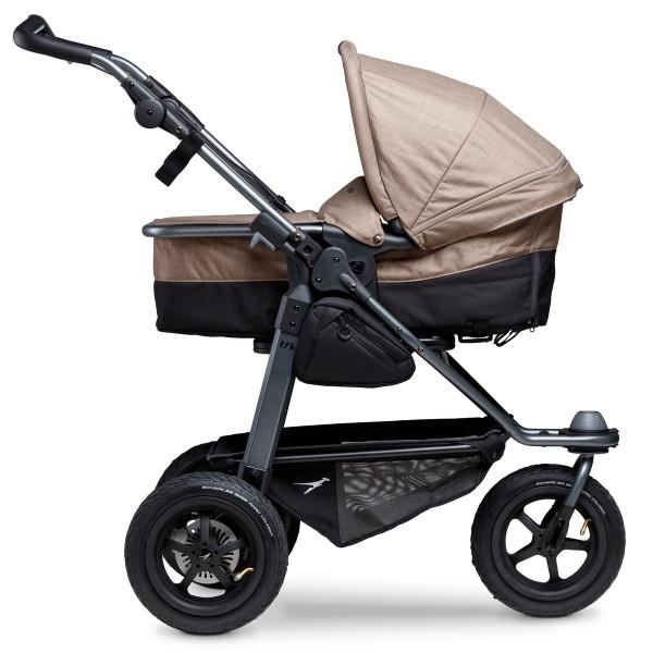 TFK Mono Kombi Kinderwagen mit Luftrad-Set- Braun