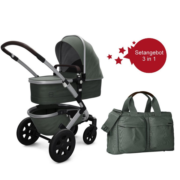 Joolz Geo 2 Setangebot Kinderwagen + Wickeltasche Marvellous Green