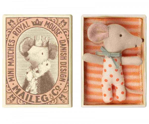 Maileg - Baby mouse, Sleepy/wakey in box - Girl