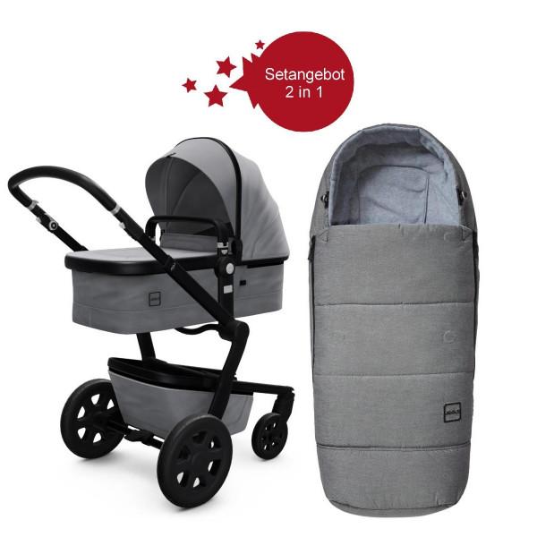Joolz Day 3 Setangebot Kinderwagen + Fußsack Modell 2020- Superious Grey