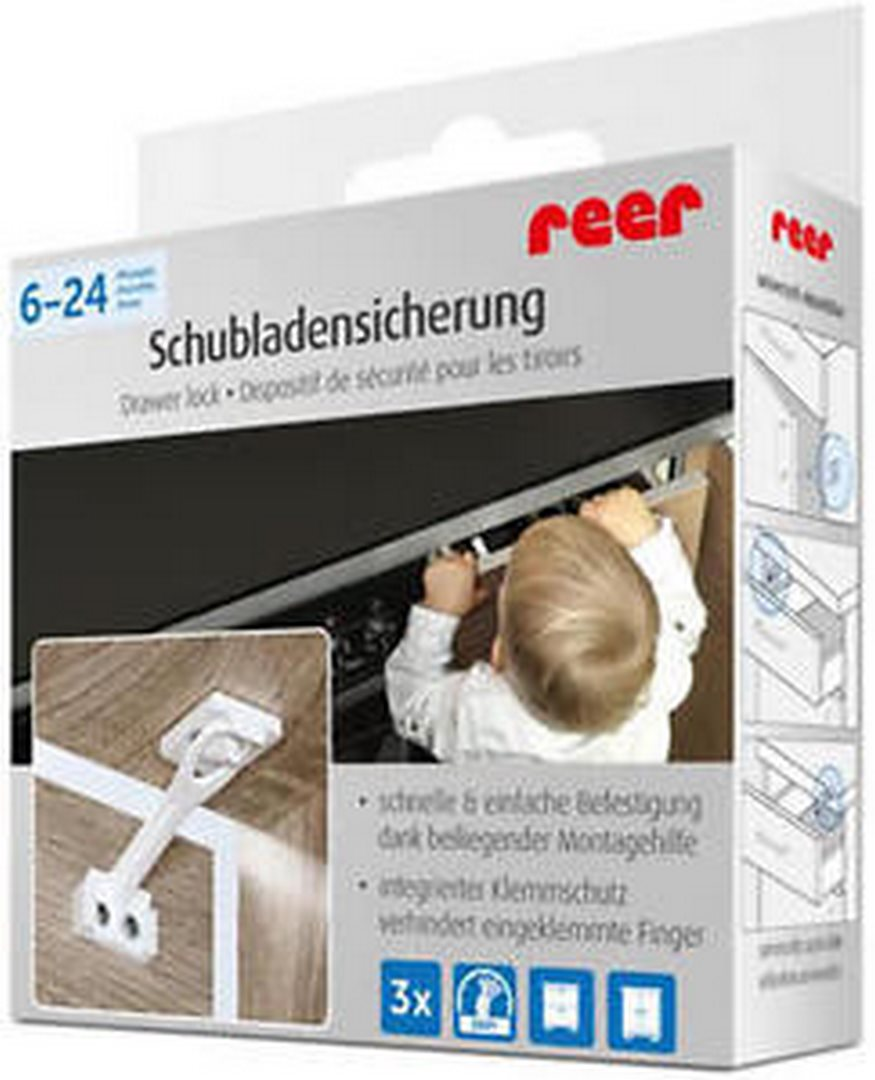 und Schubladensicherung mit Montagehilfe 71010 Reer Schrank