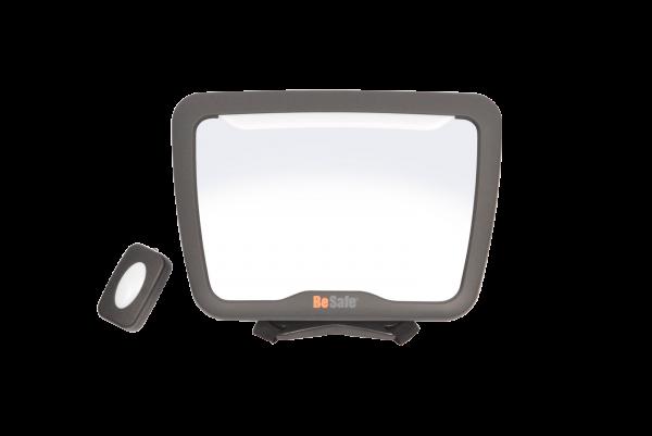 BeSafe XL2 Baby-Spiegel mit LED-Licht & Fernbedienung