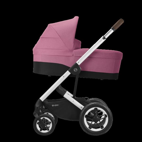 Cybex Talos S Lux Kombikinderwagen- Silber Gestell- Magnolia Pink