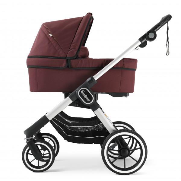 Emmaljunga NXT90 Kinderwagen mit Liegewanne - Outdoor Savannah Eco > Silber