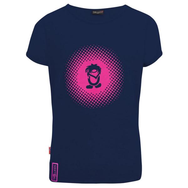 "Trollkids ""Girls Logo T"" Shirt - Navy / Magenta"