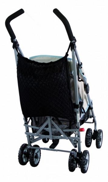 Sunny Baby Universalnetz für Kinderwagen mit Sichtschutz und Ankerverschluss - Schwarz