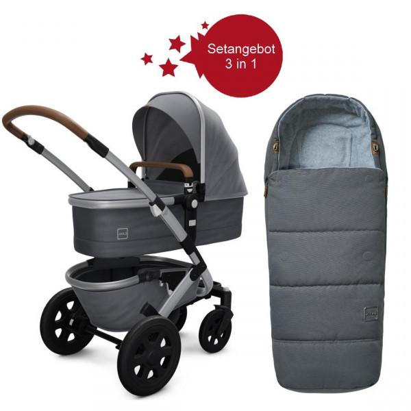 Joolz Geo 2 Setangebot Kinderwagen + Fußsack Gorgeous Grey