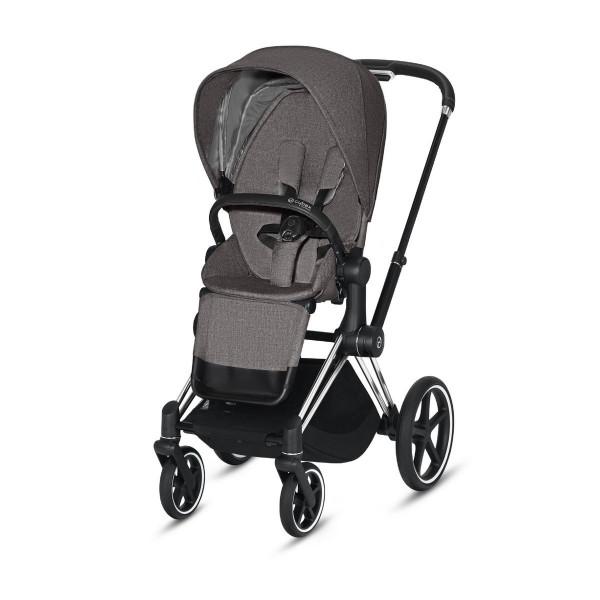 Cybex ePriam Kinderwagen Chrome Black- Manhatten Grey Plus