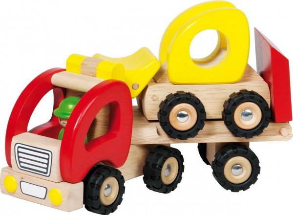 GoKi Spielzeugauto - Tieflader aus Holz