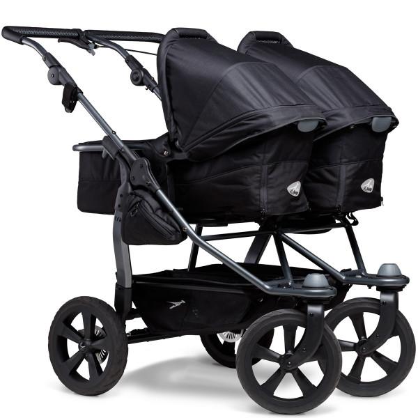 TFK Duo Kombi Kinderwagen mit Luftkammer Radset- Schwarz