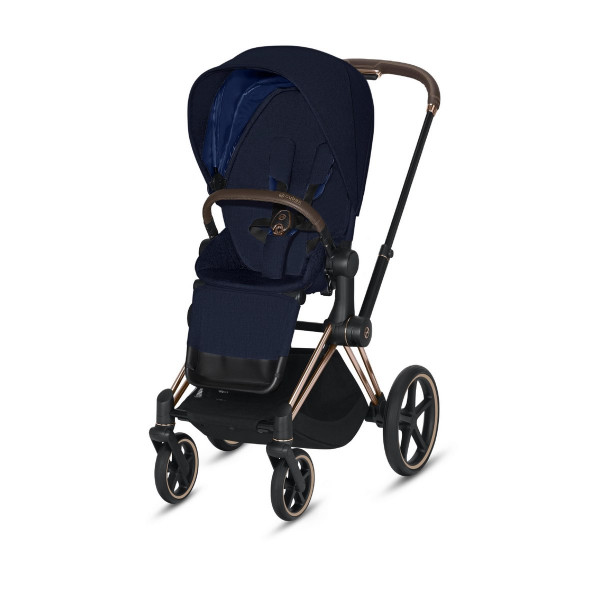 Cybex Priam Sportkinderwagen- Rose Gold- Midnight Blue Plus