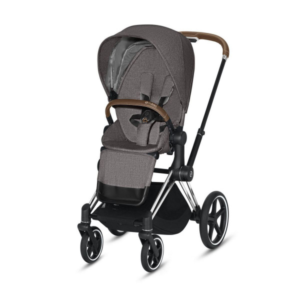 Cybex ePriam Kinderwagen Chrome- Manhatten Grey Plus