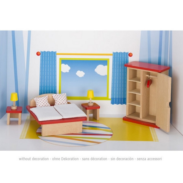 GoKi Puppenmöbel - Schlafzimmer Puppenhausmöbel