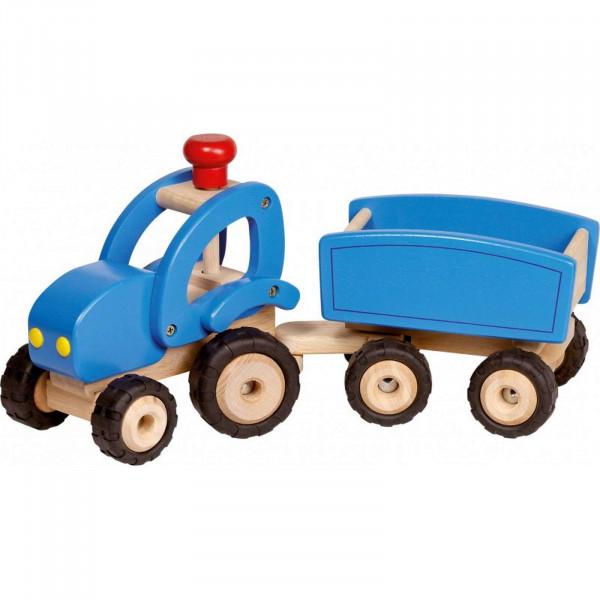 GoKi Traktor mit Anhänger aus Holz