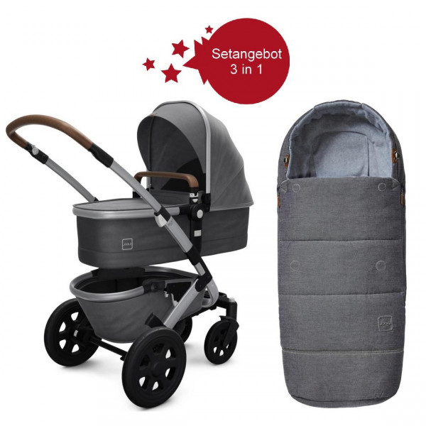 Joolz Geo 2 Setangebot Kinderwagen + Fußsack Radiant Grey