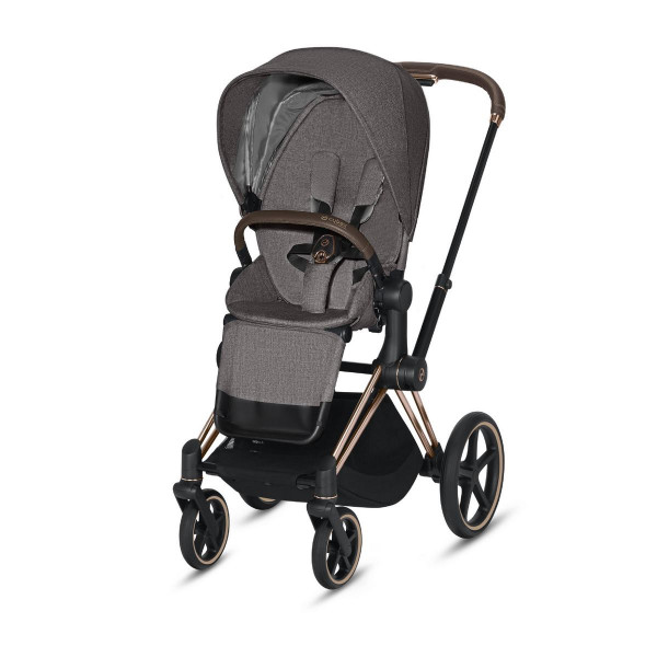 Cybex ePriam Kinderwagen Rose Gold- Manhatten Grey Plus