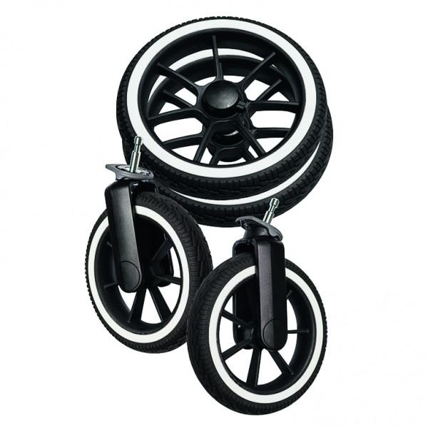 Emmaljunga NXT60 / F wheel packageBlack solight ecco wheels white rim