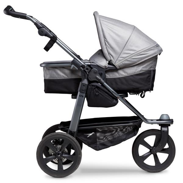 TFK Mono Kombi Kinderwagen mit Luftkammer Radset- Grau