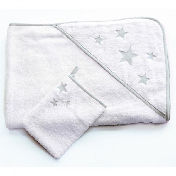 Schröders Kapuzenbadetuch mit Waschhandschuh