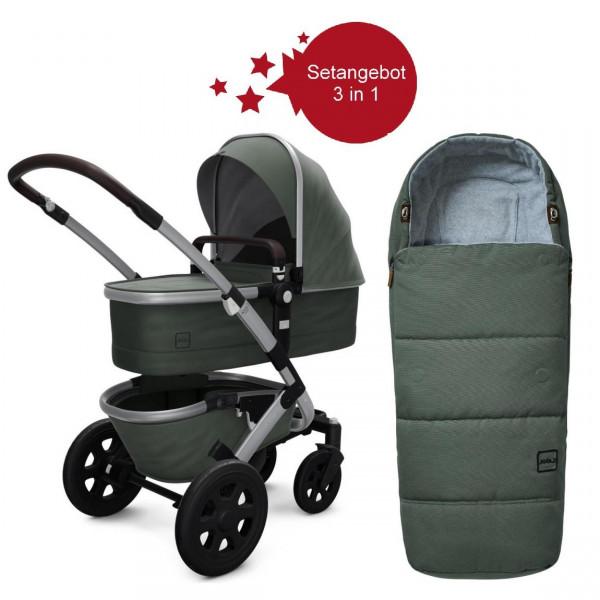 Joolz Geo 2 Setangebot Kinderwagen + Fußsack Marvellous Green
