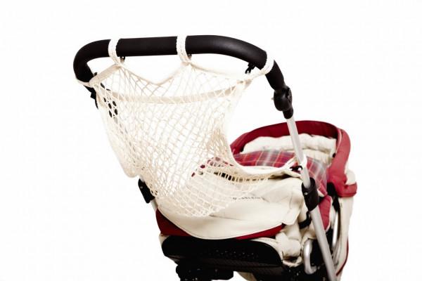 Sunny Baby Universalnetz für Kinderwagen Einkaufsnetz Anker Sichtschutz - Natur