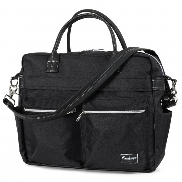 Emmaljunga Wickeltasche Travel Lounge Black