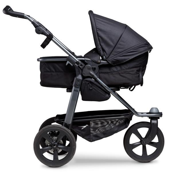 TFK Mono Kombi Kinderwagen mit Luftkammer Radset- Schwarz