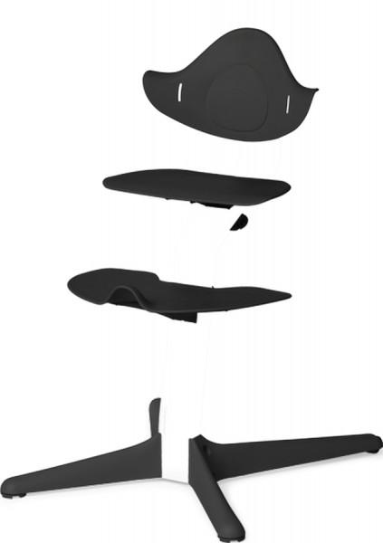Nomi Hochstuhl Kunststoffelemente - schwarz