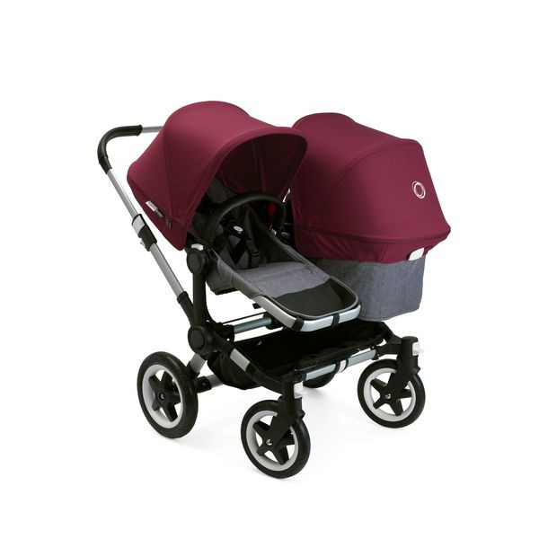 Bugaboo Donkey2 Duo Complete - Alu-Grey-Red