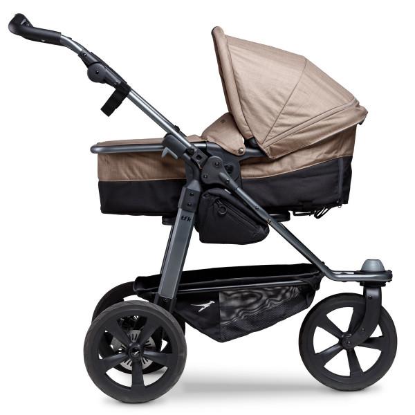 TFK Mono Kombi Kinderwagen mit Luftkammer Radset- Braun