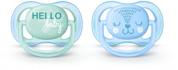 Philips Avent Beruhigungssauger Ultra Air 0-6M Hello baby (Junge)