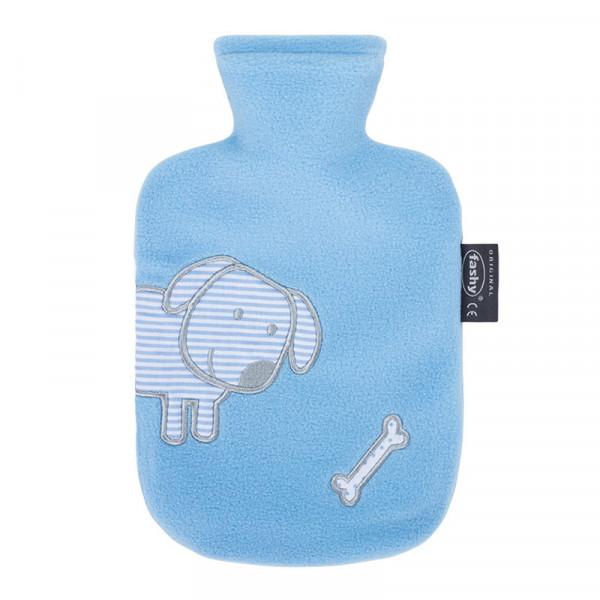 Fashy Wärmflasche mit Flauschbezug - Hellblau