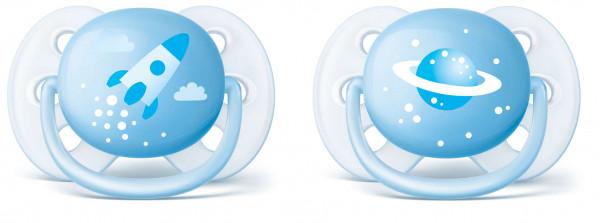 Philips Avent Beruhigungssauger Ultra Soft 0-6m blau