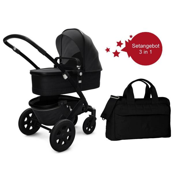 Joolz Geo 2 Setangebot Kinderwagen + Wickeltasche Brilliant Black
