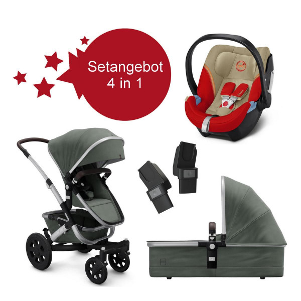 Joolz Geo 2 Setangebot Marvellous Green + Cybex Aton 5 Autumn Gold