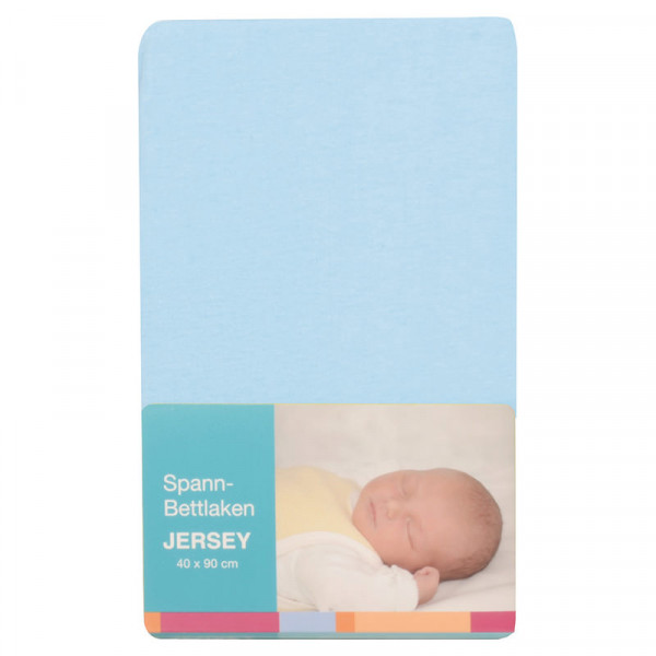 Baby-Plus Spannbettlaken Jersey 40x90 - Hellblau